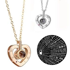 100 Languages I Love You Light Projection Necklace
